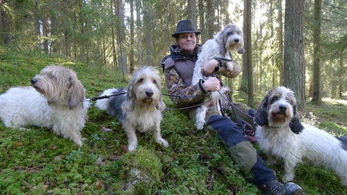 Minä ja osa koirista/ I and some of my Dogs Photo: Pekka Mommo
